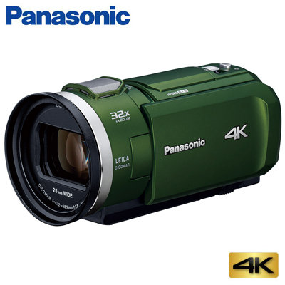 【キャッシュレス5%還元店】【返品OK!条件付】パナソニック デジタル 4K ビデオカメラ 64GB 4K PREMIUM HC-VX2M-G フォレストカーキ【KK9N0D18P】【60サイズ】