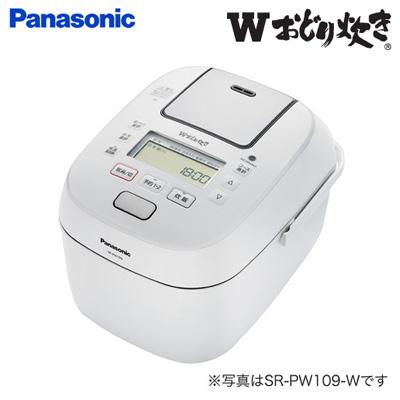 【返品OK!条件付】パナソニック 1升炊き 可変圧力IHジャー炊飯器 Wおどり炊き SR-PW189-W ホワイト【KK9N0D18P】【100サイズ】