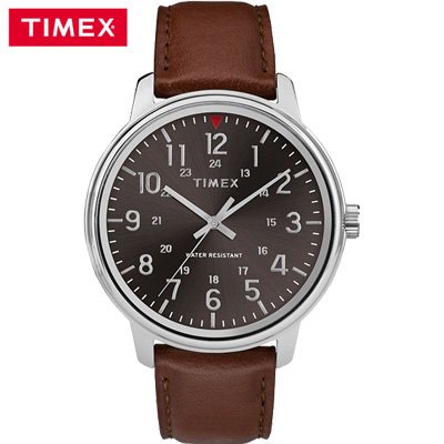 【キャッシュレス5%還元店】【返品OK!条件付】タイメックス 腕時計 42mm メンズコア TW2R85700 ブラック×ブラウン TIMEX【KK9N0D18P】【60サイズ】