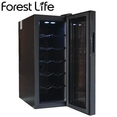 【ポイント最大44倍!~7/26(金)1:59迄※要エントリー】【返品OK!条件付】フィフティ ワインセラー 庫内容量35L 12本収納 家庭用 右開き Forest Life WCF-12【KK9N0D18P】【160サイズ】