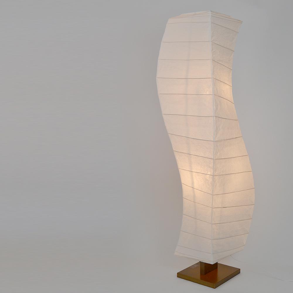 【キャッシュレス5%還元店】【返品OK!条件付】彩光デザイン 和照明 大型 和紙照明 フロアスタンドライト 【白熱電球付き】 揉み紙 日本製 和風照明 D-202 【KK9N0D18P】【160サイズ】