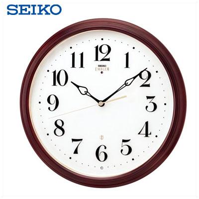 【返品OK!条件付】セイコー クロック 掛時計 電波時計 SEIKO EMBLEM リビング ダイニング ロビー 玄関 HS553Bおしゃれなデザインでお部屋のポイントに アルダー 気品ある小ぶりなスタンダードタイプ 【KK9N0D18P】【80サイズ】