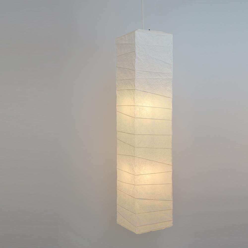 【返品OK!条件付】彩光デザイン 和照明 大型 和紙照明 ペンダントライト 2灯 【電球別売】 揉み紙 日本製 和風照明 SDPN-201 【KK9N0D18P】【120サイズ】