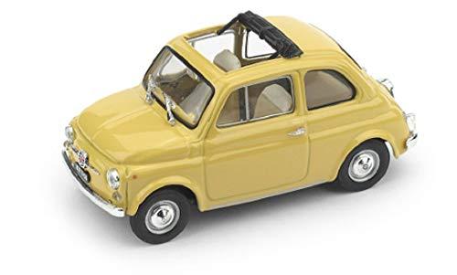 海外 ミニカー 模型 BRUMM フィアット 500 イタリア 1 交換無料 1965 OPEN 並行輸入品 イエロー F FIAT 即納送料無料! 43
