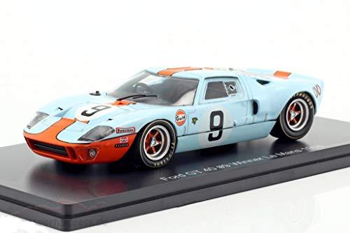 海外 ミニカー 模型 フォード GT40 1 43 FORD USA 4.9L V8 TEAM JW GULF ファクトリーアウトレット ルマン mans 優勝 9 AUTOMOTIVE ENGINEERING 耐久 2020秋冬新作 N 24時間 1968 並行輸入品 le