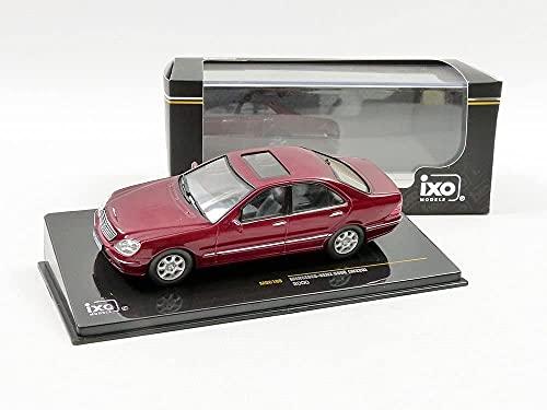 海外 ミニカー 付与 模型 訳あり品送料無料 IXO 1 43 メタリックレッド 2000 メルセデス ベンツ S500 W220