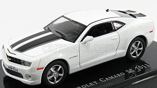 海外 ミニカー 引き出物 模型 シボレー カマロ 1 並行輸入品 43 CAMARO 『4年保証』 SS 2011 ホワイト