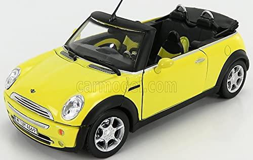高額売筋 海外 ミニカー 模型 ホンウェル ミニクーパー 1 24 [再販ご予約限定送料無料] OPEN 並行輸入品 2004 HONGWELL CABRIOLET イエロー
