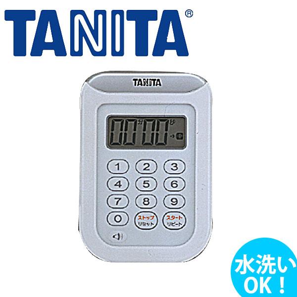 5%OFF 水洗いOK TANITA タニタ 防水タイマー おしゃれ TD-378_TANITA 中古 ホワイト _AB5108 丸洗いタイマー100分計