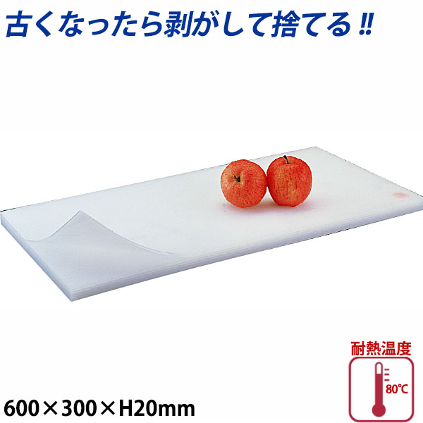 積層プラスチックまな板 厚さ20mm 2号B_600×300mm プラスチック まな板 業務用