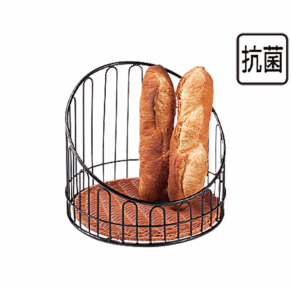 【送料無料】パン バスケット _ プリート バスケットスタンド丸 ブラウン DS508-40-BR 高_かご