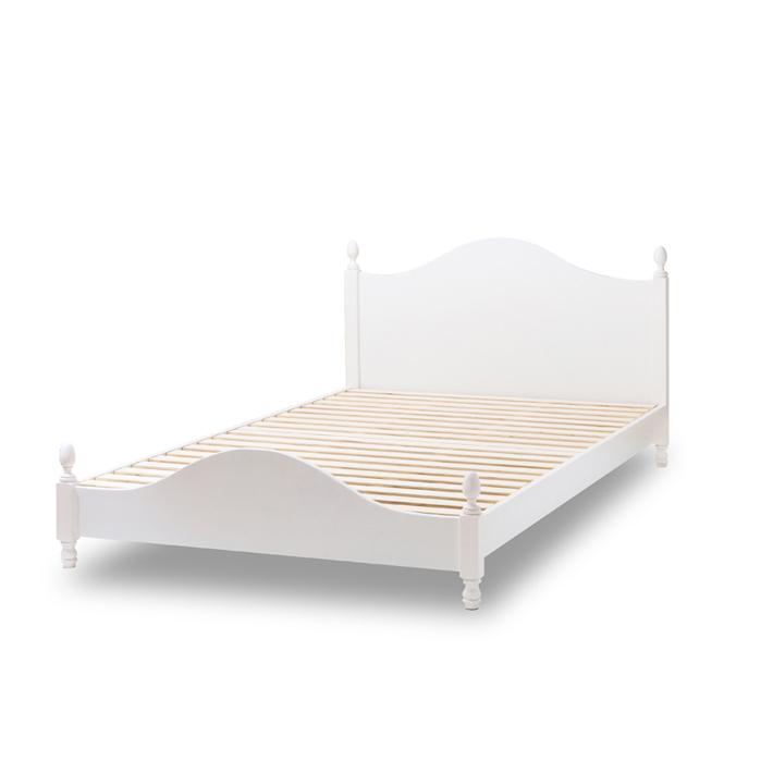 ベッド 真っ白い ガーリースタイルベッド ポケットコイル ck190-1mat(シングルbcb30)[送料無料][代引不可][fv]
