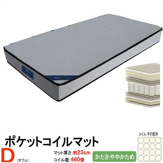 ポケットコイルマット単品 とても快適 厚手 ダブルサイズ (ルーズリーCOBALT) sw041d[tw]