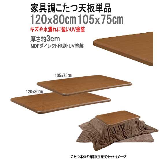 リビングこたつ用天板 単品販売 長方形 120x80cm sw152-3(KKG取替え天板120)[tw]