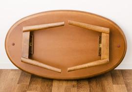胡桃刺板折叠式的被炉被炉桌子Oval宽105cm被炉桌子yagura本体木制椭圆形圆形table去腿折叠折叠胡桃橡树低桌面中心桌子天然木矮脚饭桌北欧漂亮的emuru