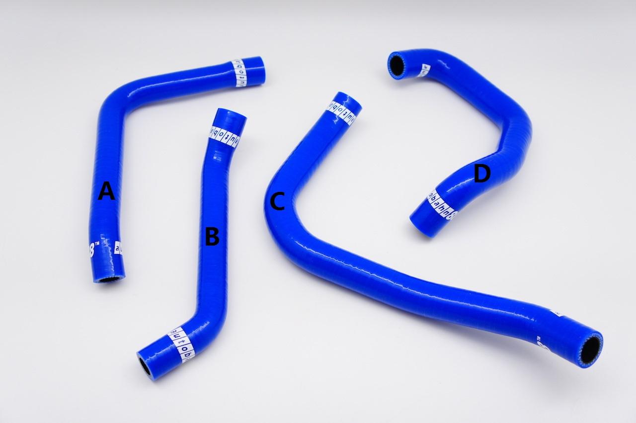 シリコン エンジンブリーザーホース カバー ホース キット スバル レガシィ 4代目 BL/BP系, BL5/BL9/BLE/BP5/BP9/BPE型 青