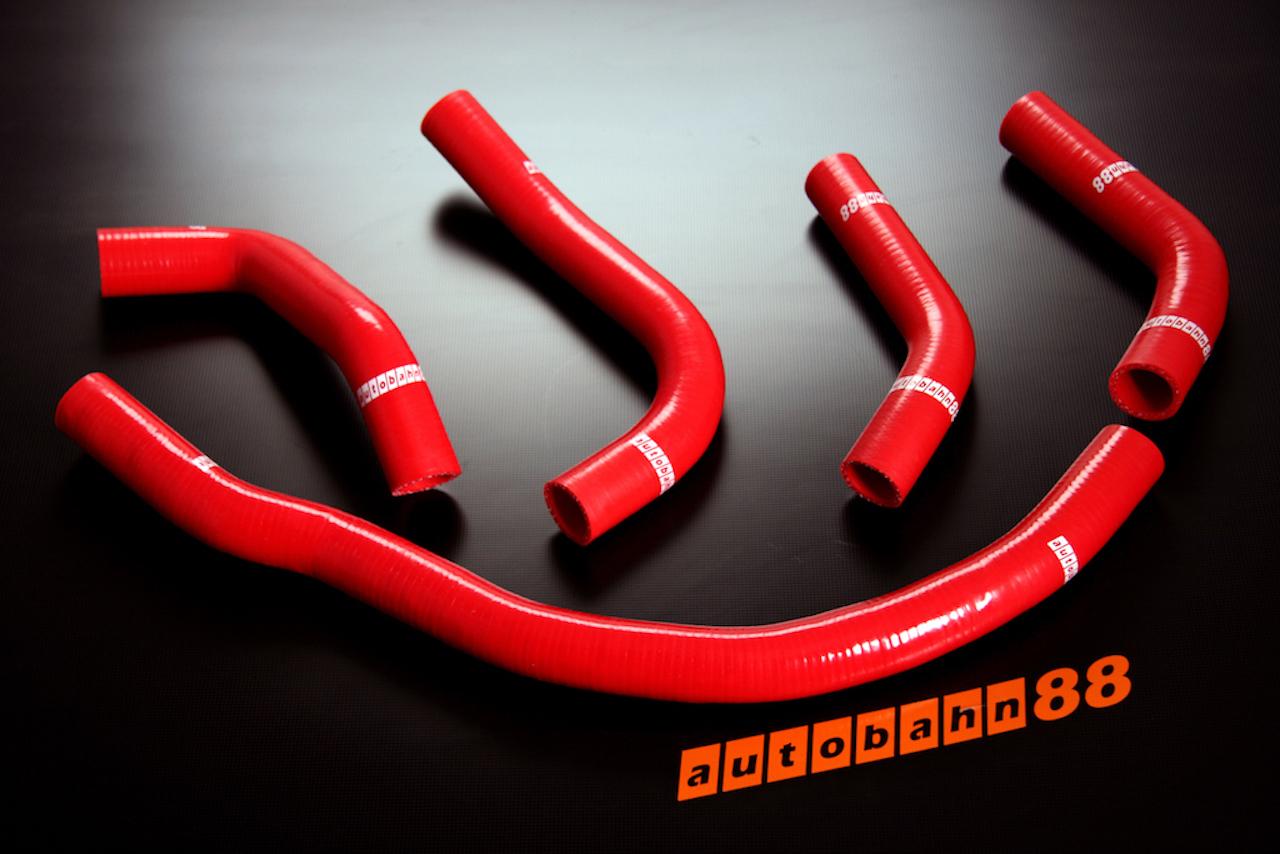 耐久 買収 耐熱 耐圧に優れる強化 トヨタ MR2 キット 直送商品 3S-GTE SW20 シリコンラジエーターホース 赤