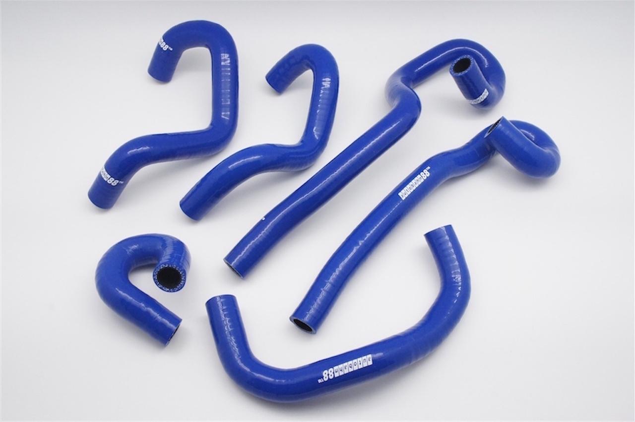 シリコン ラジエータヒーターホース  日産 スカイラインR33/34 GT-S GT-T RB25DET 青