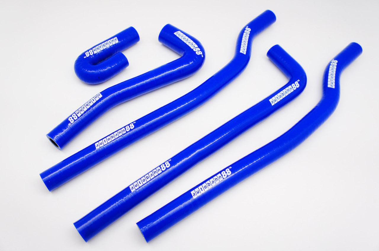 シリコンラジエーターヒーターホース ゴルフ1 VW Golf MK1 青