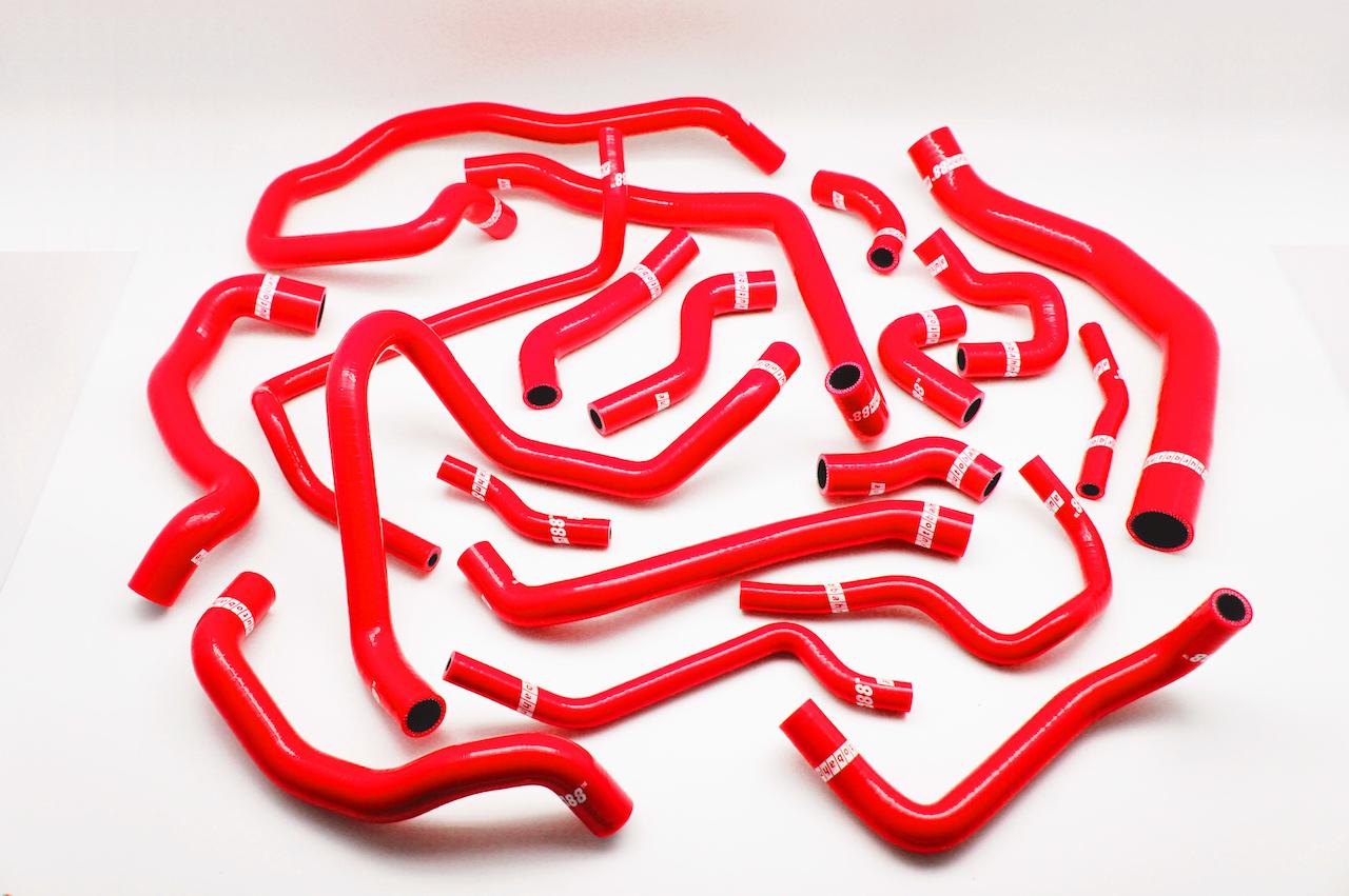 シリコン ラジエーター&ヒーターホース ゴルフ VW 7代目  ゴルフVII 5G型 GTI 赤