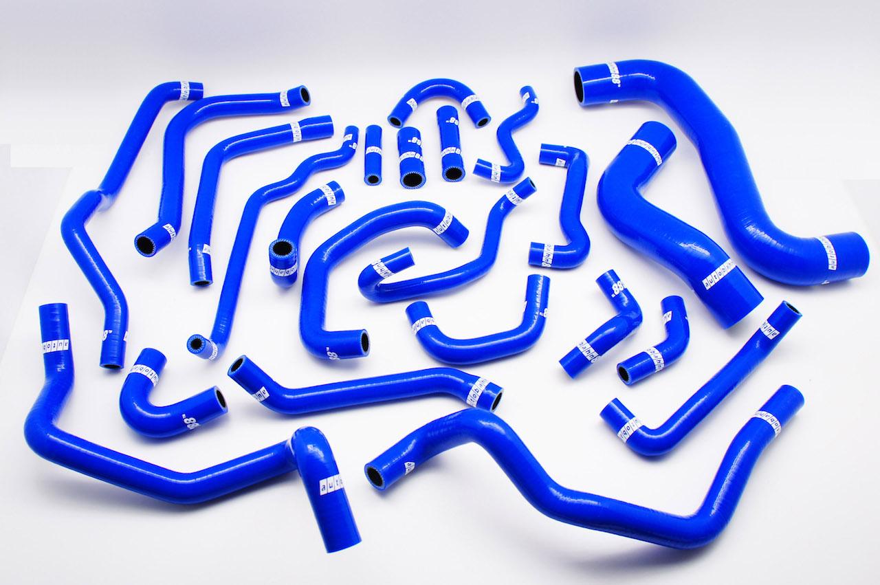 シリコン ラジエーター ホース&ビーターホース+ブリーザー ホース キット スバル レガシィ 4代目 BL/BP系 MT用 青