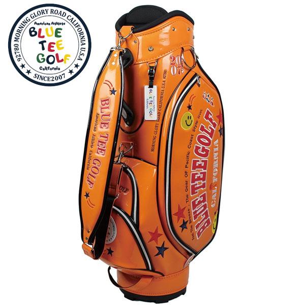 カリフォルニアスタイルのゴルフブランド ブルーティーゴルフ ポイント2倍 送料無料 メーカー取寄 キャディバッグ 爆売り エナメルキャディバッグ CB-005 46インチ対応 4.6kg 配送員設置送料無料 オレンジ ※メーカー取寄※ 9.0型 口枠5分割