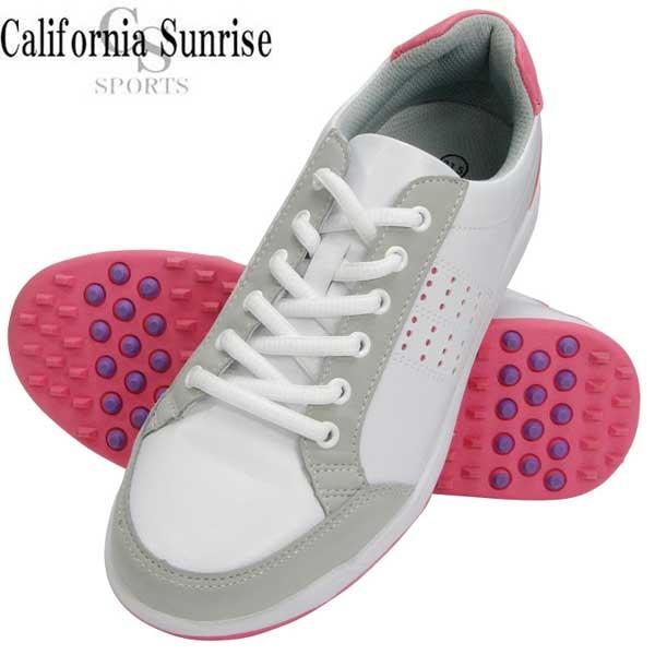 California 誕生日プレゼント Sunrise カリフォルニアサンライズ レディース ゴルフシューズ スパイクレスゴルフシューズ フィット感 メーカー取り寄せ [並行輸入品] 軽量 クッション性 CSSH-3622L 朝日ゴルフ
