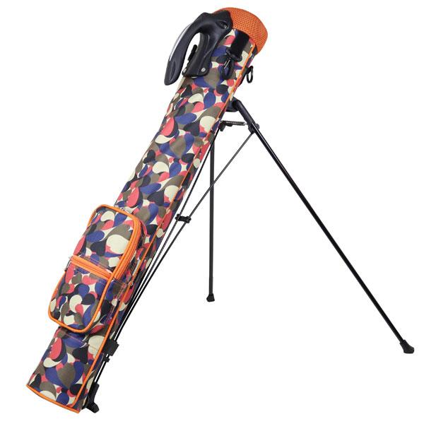 セルフスタンドバッグ AZROF アズロフ(AZ-SSC02-159 ソウルオレンジ)セルフバッグ セルフスタンド スタンド式 クラブケース メンズ レディース