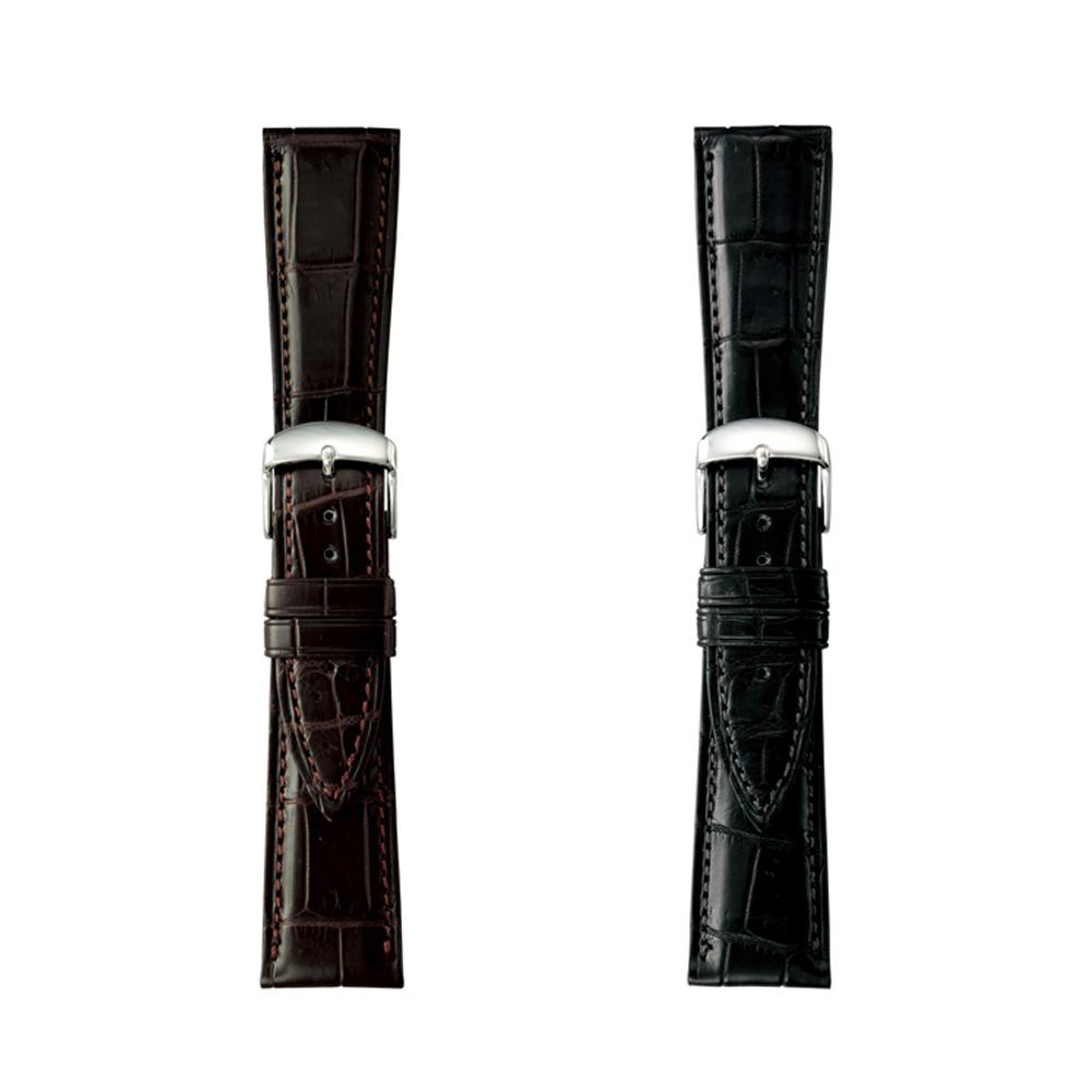 時計 ベルト クロコダイル マット ワニ革 レザー BAMBI バンビ GREACIOUS グレーシャス 22mm 24mm【お取り寄せ】