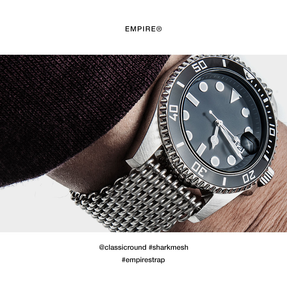 huge discount 51563 21866 EMPIRE SHARK MESH シャークメッシュ 316L ステンレス メタル バンド 金属 時計 ダイバー ベルト 腕時計 ベルト 時計ベルト  腕時計ベルト 20mm 22mm 腕時計ベルトの専門店 EMPIRE