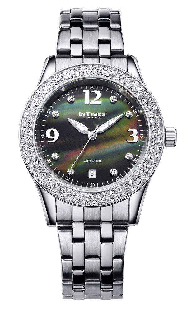 INTIMES インタイムス 36mm スワロフスキー エレガントな大人スタイル レディース 腕時計 ITPC2052