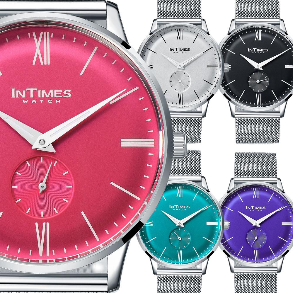 INTIMES インタイムス ミラネーゼ スモールセコンドメンズ レディース 男女兼用 腕時計 ITPC2108