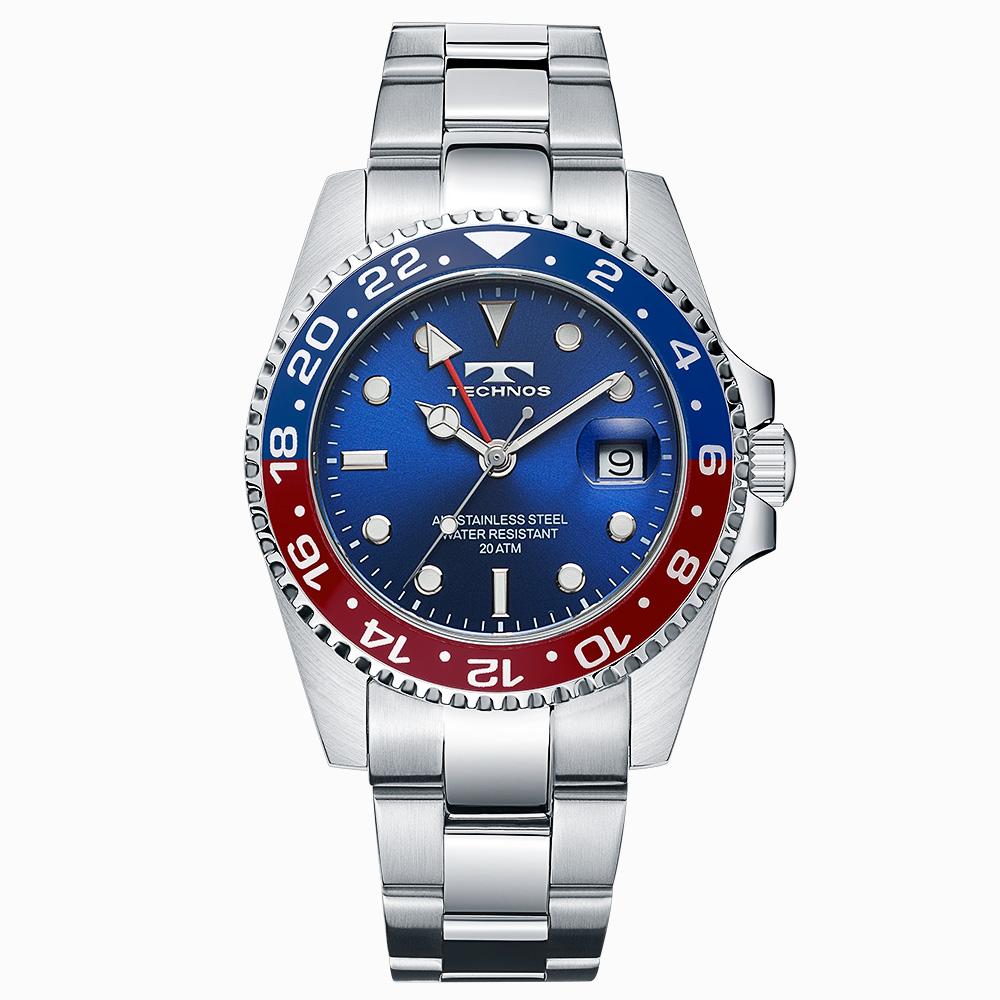 テクノス GMT メンズ 腕時計 T2134NR