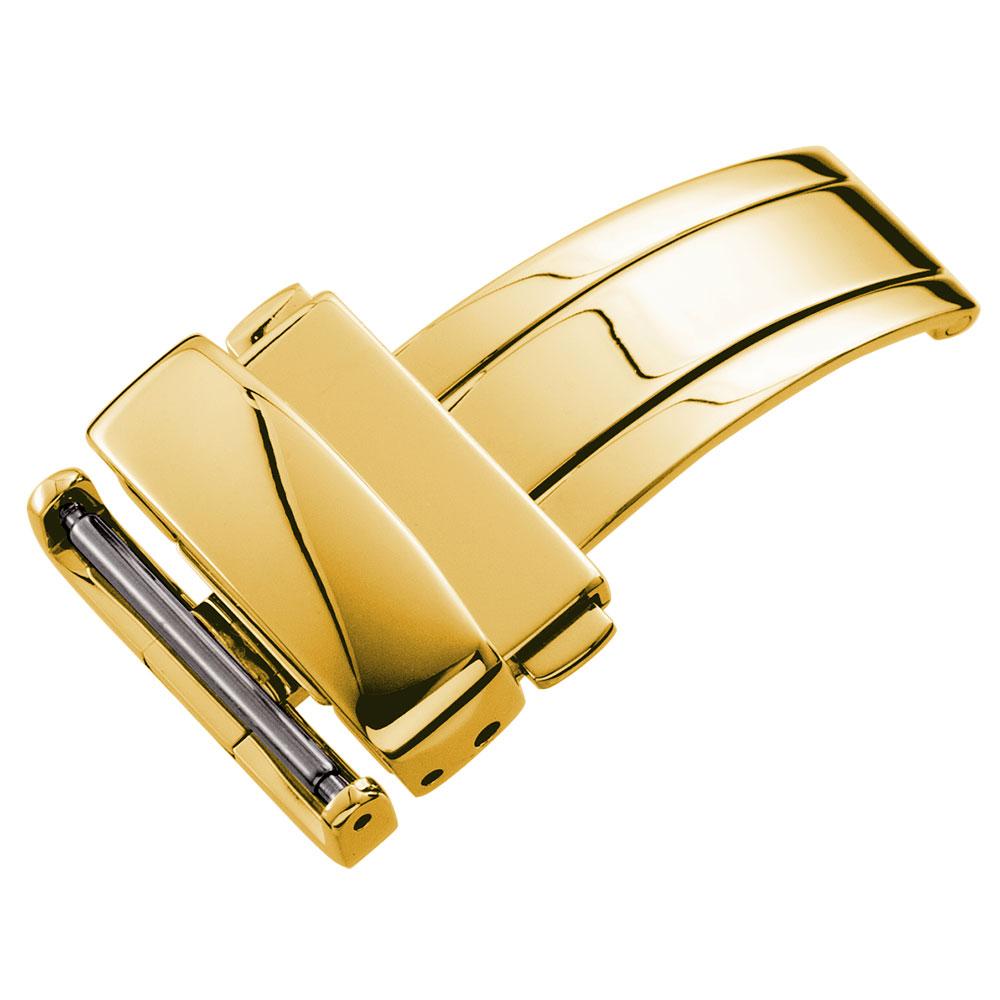 WAQUIZ ワクイズ 腕時計 ベルト 時計ベルト 腕時計ベルト 革ダブルプッシュ式 Dバックル 低価格 14mm 三つ折れ 16mm 選択 ゴールド 18mm 12mm