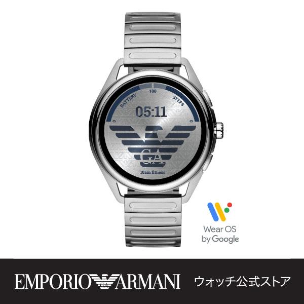 iPhone Android 対応 送料無料 エンポリオ トレンド アルマーニ スマートウォッチ タッチスクリーン メンズ ART5026 腕時計 EMPORIO 公式 保証 SMARTWATCH 3 ARMANI 2年 特別セール品