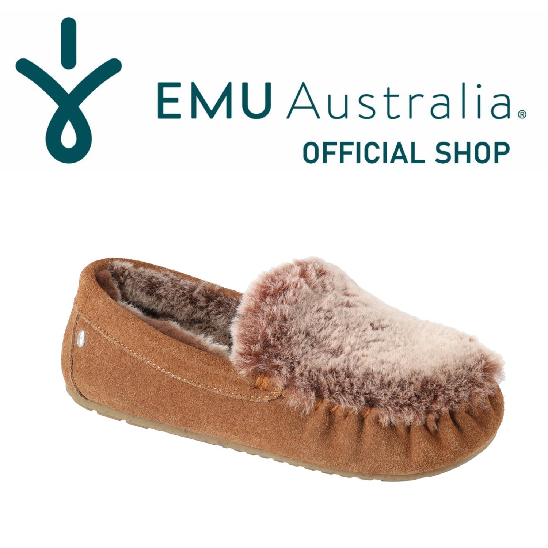 シープスキンモカシン スーパーセール限定特価 公式 EMU Australia エミュ Cairns Fur 送料無料 信託 モカシン ムートン Reverse お得セット Frost シープスキン