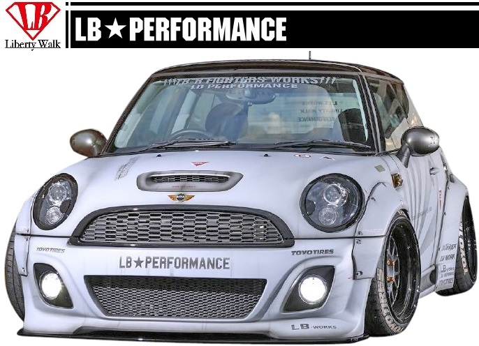 MINI R56 LB STANCE WORKS Full Aero 8 Points Wide Body Kit Front