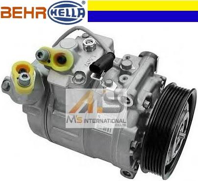 【M's】E60 E61 BMW 5シリーズ 523i 525i 525xi 530i 530ixDrive 530xi 540i 545i セダン ツーリングワゴン/BEHR エアコンコンプレッサー ACコンプレッサー A/Cコンプレッサー 64509174803/6450-9174-803 ベアヘラ BEHR_HELLA 高品質 最安値 エムズ 新品