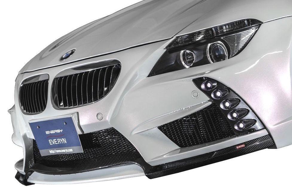 【M's】BMW 6シリーズ(2003-2011)E63/E64 フロントバンパーキット / ENERGY MOTOR SPORT エアロ // フロント バンパー / リップ スポイラー / 5連 LED デイライト / クーペ / カブリオレ / 630i 645Ci 650i SMG / EH30 EH44 EH48 EK44 EK48