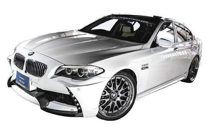 【M's】BMW 5シリーズ(2010.3-)F10 エアロ 4点 セット / ENERGY MOTOR SPORT // フロント バンパー / サイド スポイラー / リア アンダー スポイラー キット / トランクスポイラー / EVO 10.1 ボディ キット スタンダードモデル FRP