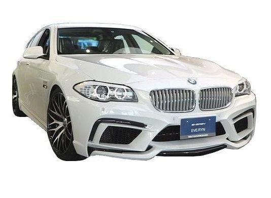 【M's】BMW 5シリーズ ツーリング(2010.9-)F11 エアロ 3点 セット FRP+カーボン / ENERGY MOTOR SPORT // フロント バンパー キット / サイド スポイラー / リア ディフューザー / EVO 11.2 ボディ キット カーボンエディション