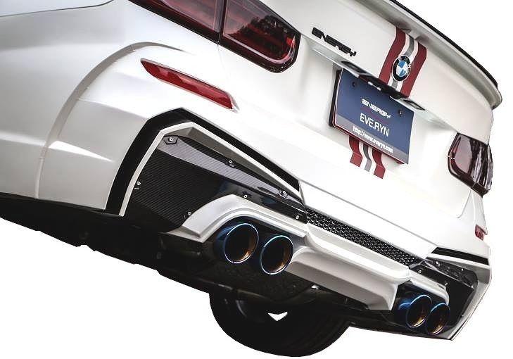 【M's】BMW 3シリーズ F30(2012.1-)リア バンパー キット カーボン エディション / ENERGY MOTOR SPORT エアロ // リヤ バンパー / リア カーボン ディフューザー / FRP+CARBON