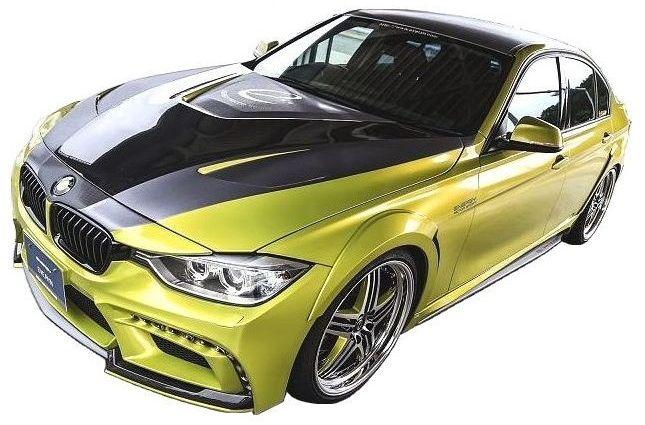 【M's】BMW 3シリーズ F30(2012.1-)FRP ボンネット ダクト付 / ENERGY MOTOR SPORT エアロ // エナジー モーター スポーツ / garage EVE.RYN