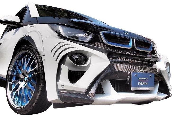 【M's】BMW i3 フロント バンパー FRP / ENERGY MOTOR SPORT エナジー モーター スポーツ エアロ // EVOi3 スタンダードエディション 専用ネット付 / garage EVE.RYN
