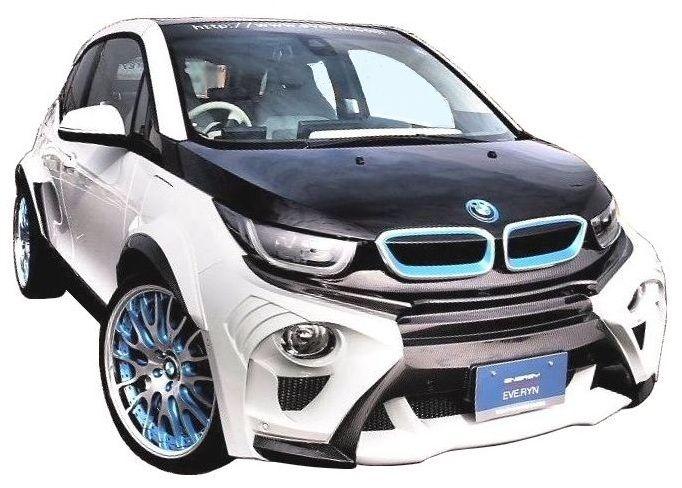 【M's】BMW i3 エアロ 4点 セット FRP+CARBON / ENERGY MOTOR SPORT // フロント バンパー / リア アンダー スポイラー / オーバーフェンダー / EVOi3 ボディ キット カーボンエディション