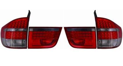 【M's】BMW E70 X5 LED テールレンズ左右(レッド・クリア スモーク・レッド/タイプ-2)新品