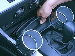 全新宝马 E85 E86 Z4 系列 ALCABO 饮料 & 口袋杯架 (银杯)