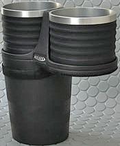 【M's】VW トゥーラン(03y-15y)ALCABO ドリンクホルダー(ブラック+リング カップタイプ)//アルカボ カップホルダー 黒 アルミ フォルクスワーゲン VOLKSWAGEN TOURAN AL-B107BS ALB107BS