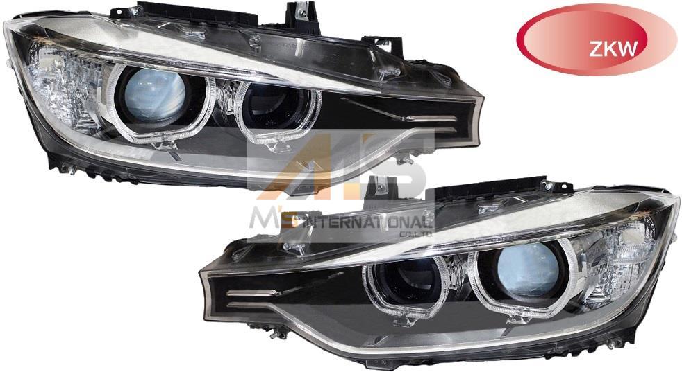 【M's】F30 F31 BMW 3シリーズ(2012y-)ZKW製 バイキセノン ヘッドライト(左右)//純正OEM 320i 328i 330e 335i 340i 316d 318d 320d アクティブハイブリッド3 日本仕様 左側通行用 6311-7338-699 6311-7338-700 63117338699 63117338700