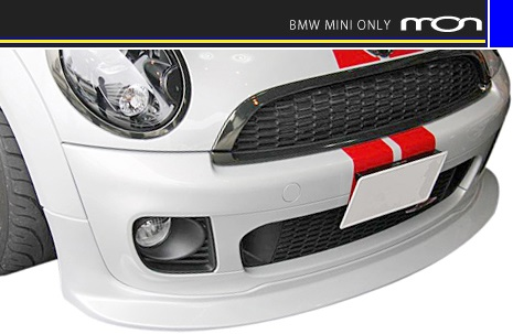 【M's】R56 BMW ミニ(JCW)mon フロントスポイラー(MC後)//社外品 エアロ MINI ジョン・クーパー・ワークス ウレタン(シボ塗装無)